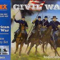 Hobbys: CAJA CON CABALLERÍA DE LA UNIÓN (GUERRA CIVIL NORTEAMERICANA) DE IMEX A ESCALA 1/72. Lote 263196335