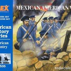 Hobbys: CAJA CON INFANTERÍA NORTEAMERICANA GUERRA CON MEXICO (1846-48) DE IMEX A ESCALA 1/72. Lote 263196540