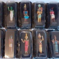 Hobbys: 12 FIGURAS EGIPCIAS, COLECCION MISTERIOS DE LOS DIOSES EGIPCIOS, SALVAT. Lote 264690564