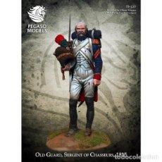 Hobbys: SARGENTO DE CAZADORES DE LA VIEJA GUARDIA. 1815. PEGASO MODELS. 75 MM. Lote 272156648