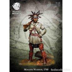 Hobbys: GUERRERO MOHAWK, 1760. PEGASO MODELS. 75 MM. Lote 272158908