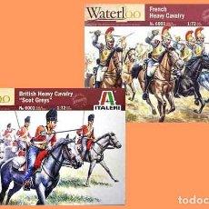 Hobbys: LOTE 2 CAJAS DE CABALLERIAS DE LA BATALLA DE WATERLOO DE ITALERI A ESCALA 1/72 ¡OFERTA!. Lote 288549918