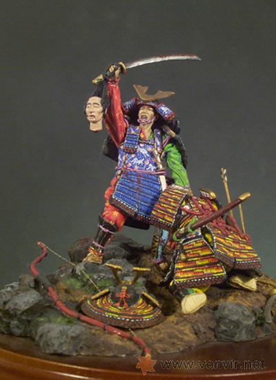 Hobbys: Andrea SM-S02. Figuras medievales lucha de Samurais, (El Trofeo) 54mm. (10 botes pintura Model Air) - Foto 2 - 24467069