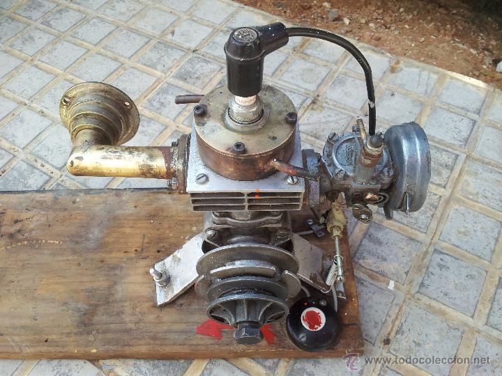 EXCEPCIONAL MOTOR MODELISMO NAVAL RC GRAN CILINDRADA AÑOS 60 CARBURADOR ENCARWI MADE IN HOLLAND (Juguetes - Modelismo y Radiocontrol - Motores)