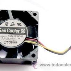 Hobbys: VENTILADOR PARA PC SAN COOLER 60 DC 12 V 0,17 A SANYO TAMAÑO 6X6. Lote 53901254