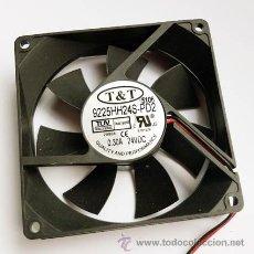 Hobbys: VENTILADOR PARA PC T&T DC 24 V - 0,30 A TAMAÑO 9X9. Lote 53901355