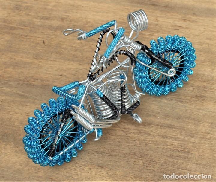 Hobbys: Moto tipo Harley Darvidson en alambre de aluminio - Foto 3 - 198053032