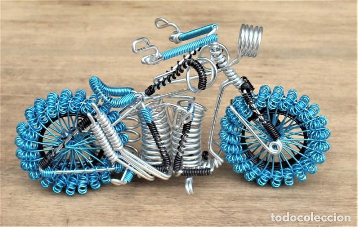 Hobbys: Moto tipo Harley Darvidson en alambre de aluminio - Foto 4 - 198053032