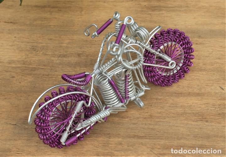 Hobbys: Moto tipo Harley Darvidson en alambre de aluminio - Foto 3 - 198053652