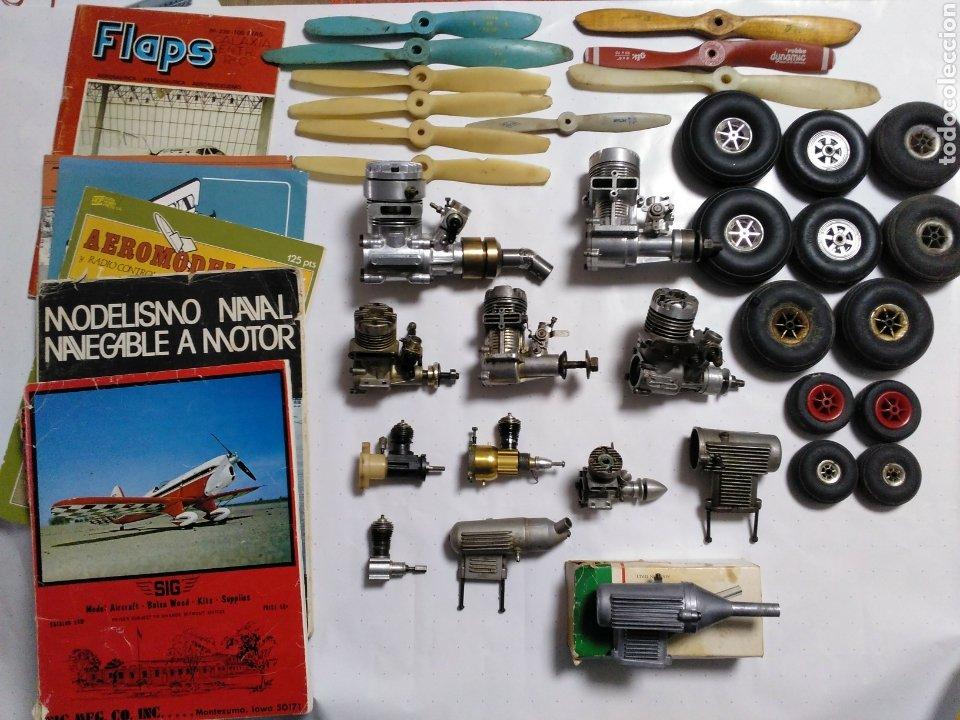 LOTE DE AEROMODELISMO (Juguetes - Modelismo y Radiocontrol - Motores)