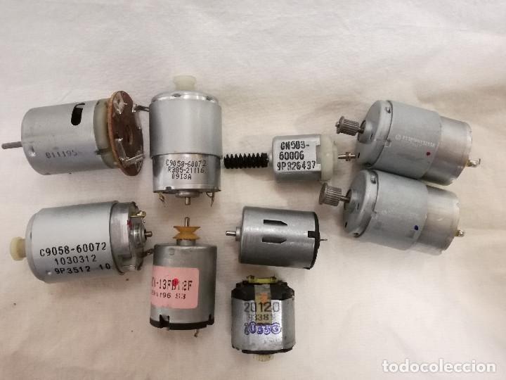 Hobbys: LOTE DE 9 MOTORES PQUEÑOS ELECTRICOS (TODOS FUNCIONAN) - Foto 2 - 200622330