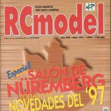 Hobbys: RC MODEL Nº 193 , REVISTA DE MODELISMO - EDITADA - 1997. Lote 22760635