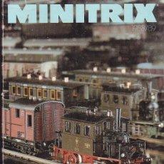 Hobbys: MINITRIX, CATALOGO FERROVIARIO 1988/1989 ( CATALOGO EN FRANCES ). Lote 22762144