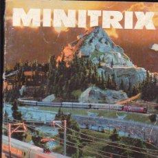Hobbys: MINITRIX, CATALOGO FERROVIARIO 1991/1992 ( CATALOGO EN ALEMAN ). Lote 22762177
