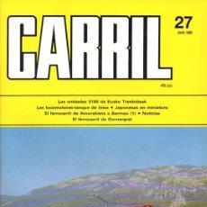 Hobbys: REVISTA CARRIL Nº 27 (JUNIO 1989). Lote 28096576