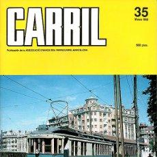 Hobbys: REVISTA CARRIL Nº 35 (MARZO 1992). Lote 28096638