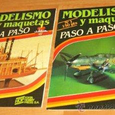 Hobbys: FASCICULOS UNO Y DOS DE MODELISMO Y MAQUETAS, PASO A PASO, A COLOR TEXTOS EN CASTELLANO, AÑO 1984. . Lote 28480434