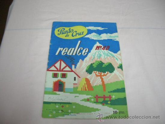 LIBRITO PUNTO DE CRUZ AÑO 1958 (Juguetes - Modelismo y Radiocontrol - Revistas)