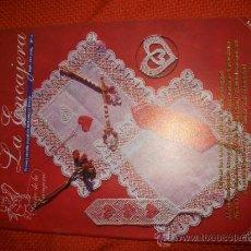 Hobbys: REVISTA LA ENCAJERA - Nº 4 - BOLILLOS - 14 PATRONES - ESPECIAL SAN VALENTIN,ENCAJE DE AGUJA, ROSA.... Lote 34646716