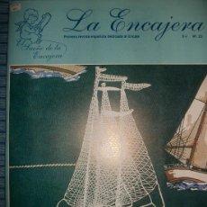Hobbys: REVISTA LA ENCAJERA - Nº 23 - BOLILLOS - 20 PATRONES - VELEROS, PECES, PALOMAS, PUNTILLA PARA APREND. Lote 34699149