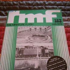 Hobbys: REVISTA DE TREN, RMF. Nº 182, JUNIO 1978. Lote 35778276