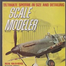 Hobbys: SCALE MODEL VOL.6 N.9, SEPT. 1971 USA – SPITFIRE, ROLLS ROYCE, HONDA, MILITARY TANKS... TEXTOS EN IN. Lote 37140509