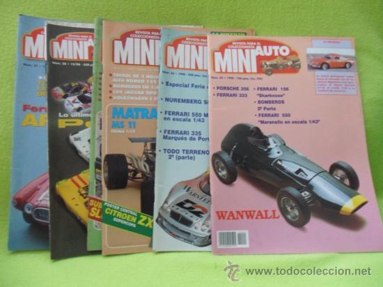 MINI AUTO. REVISTA DEL COLECCIONISTA. LOTE DE 6 REVISTAS: 2-3-23-24-27 Y 28. AÑO 1994/1998. (Juguetes - Modelismo y Radiocontrol - Revistas)