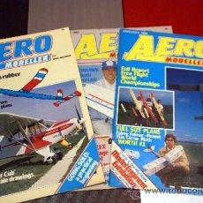 Tres revistas AERO MODELLER. 1984. En inglés.