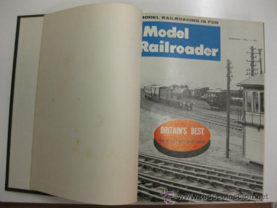 MODEL RAILROADER.1961. 12 REVISTAS ENCUADERNADAS. (Juguetes - Modelismo y Radiocontrol - Revistas)