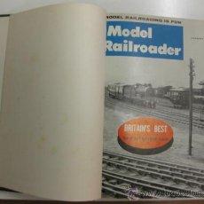 Hobbys: MODEL RAILROADER.1961. 12 REVISTAS ENCUADERNADAS.. Lote 38290079