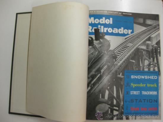 MODEL RAILROADER.1963. 12 REVISTAS ENCUADERNADAS. (Juguetes - Modelismo y Radiocontrol - Revistas)