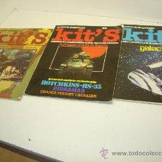 Hobbys: LOTE 3 REVISTAS DE MAQUETISMO KIT'S Nº1-2-3 MAQUETAS AÑO 1978. Lote 38539501