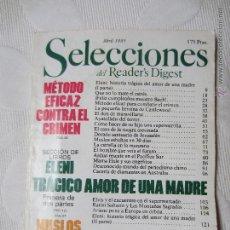 Hobbys: REVISTA SELECCIONES DEL READER¨S DIGEST ABRIL 1985. Lote 43168725