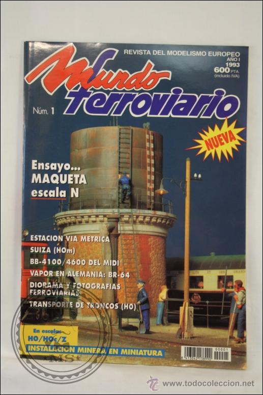 Hobbys: Colección de Revistas Mundo Ferroviario - Números 1 al 15 - 1993-1994 - Edita Resistor - Foto 4 - 43346255