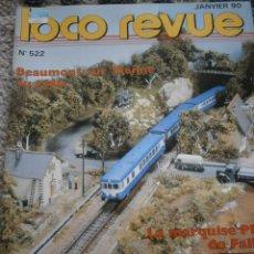 Hobbys: LOCO REVUE, Nº 522 , ENERO 1990.. Lote 43547582