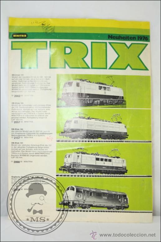 Hobbys: Antiguo Catálogo en Alemán de Trenes en Miniatura Trix. Minitrix 1976 - Medidas 30 x 21 Cm - Foto 2 - 43584115
