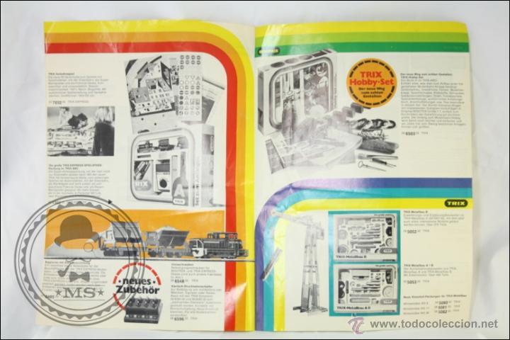 Hobbys: Antiguo Catálogo en Alemán de Trenes en Miniatura Trix. Minitrix 1976 - Medidas 30 x 21 Cm - Foto 3 - 43584115