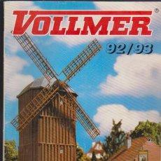 Hobbys: FERROCARRIL & VARIOS - CATALOGO VOLLMER 92/93 - H0/N/Z - MODELISMO FERROVIARIO. Lote 44069509