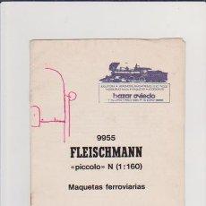 Hobbys: FERROCARRIL - FLEISCHMANN - MAQUETAS - MODELISMO FERROVIARIO. Lote 44069689