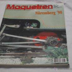 Hobbys: MAQUETREN Nº 65. ESPECIAL NUREMBERG 1998. LOCOMOTORAS ELECTRICAS Y DIESEL. CAJAS DE INICIACIÓN.. Lote 206981481