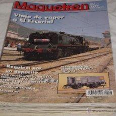 Hobbys: MAQUETREN Nº 17. VIAJE DE VAPOR A EL ESCORIAL. ESTACIÓN DE BRINKOLA. MAQUETA HO. VAGONES CON GARITA.. Lote 206760162