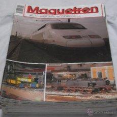 Hobbys: MAQUETREN Nº 3. CAN MERCADER. ACTIVIDADES AAF. CONSTRUCCIÓN DE MAQUETA. DIESEL 1800 DE RENFE. Lote 206760777