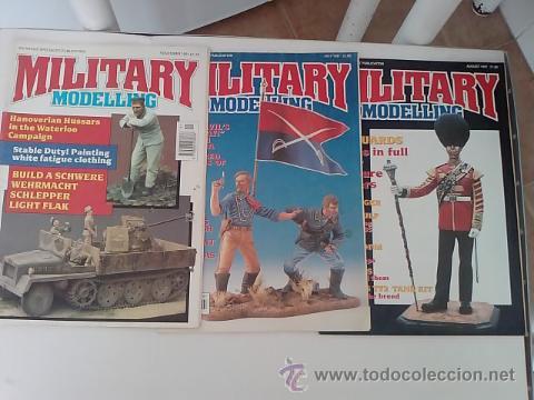 -LOTE MILITARY MODELLING 1991 -3 REVISTAS -INGLES (Juguetes - Modelismo y Radiocontrol - Revistas)