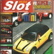 Hobbys: MAS SLOT 5,TECNICA MANDO REGULABLE,MINI COOPER,COMPARATIVA GR N, SALEEN S7, FORD GT 40,MITSUBISHI. Lote 53298769