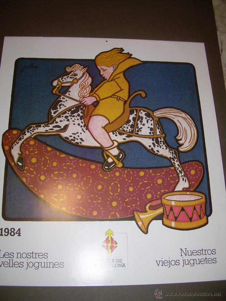 CALENDARIO DE PARED..... DE JUGUETES ANTIGUOS....AÑO 1.984 (Juguetes - Modelismo y Radiocontrol - Revistas)