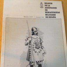 Hobbys: BOLETIN DE LA AGRUPACIÓN DE MINIATURISTAS MILITARES. XLV 1ER TRIMESTRE DE 1985. Lote 55035687