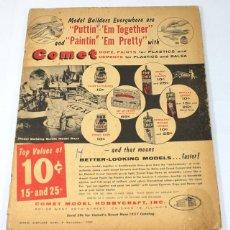 Hobbys: REVISTA DE AEROMODELISMO MODEL AIRPLANE NEWS, NOVIEMBRE 1957, EN INGLES. Lote 57191022