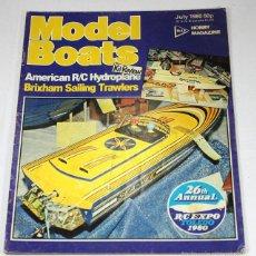 Hobbys: REVISTA DE MODELISMO MODEL BOATS, JULIO 1980, EN INGLES. Lote 57191272