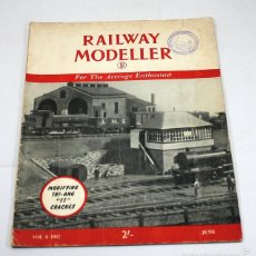 Hobbys: REVISTA RAILWAY MODELLER JUNIO 1957 EN INGLES, TREN MODELISMO FERROCARRIL.... Lote 57512517