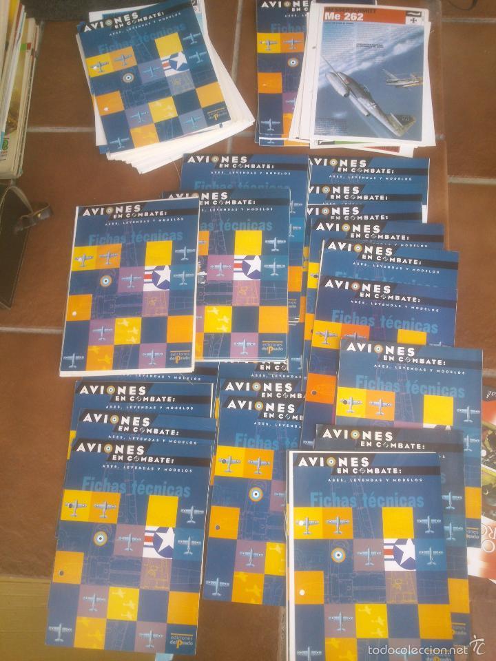 AVIONES EN COMBATE ASES LEYENDAS Y MODELOS FICHAS TECNICAS (Juguetes - Modelismo y Radiocontrol - Revistas)